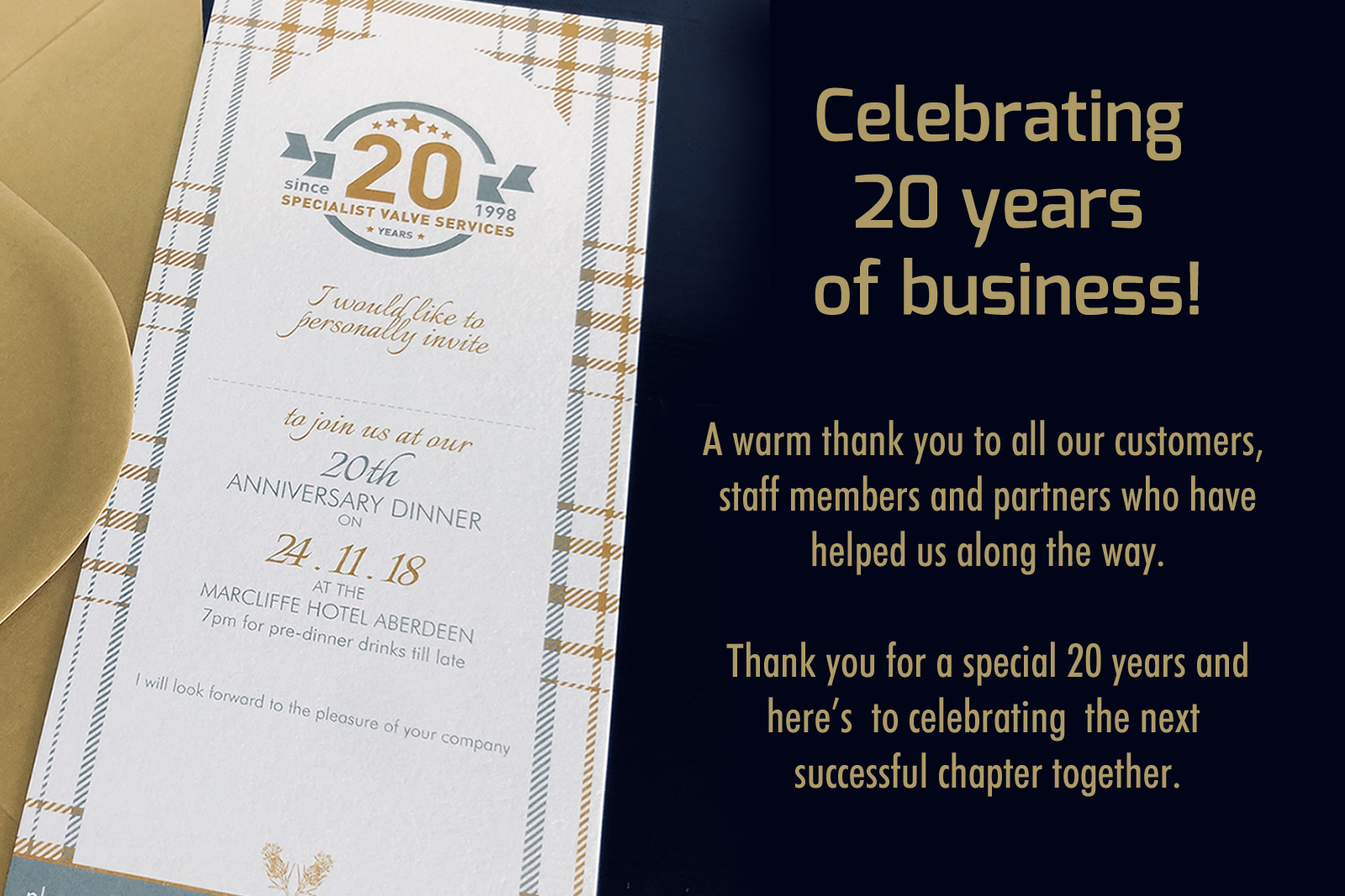 SVS CELEBRATE 20 YEARS OF BUSINESS